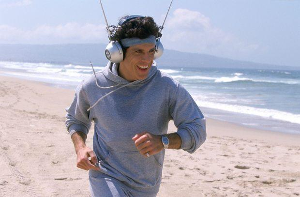 jogging with headphones