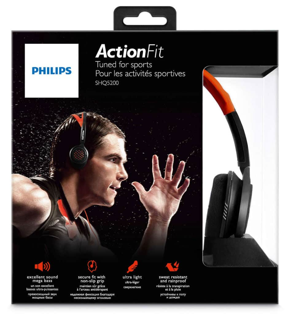 Philips ActionFit SHQ5200 headphones box