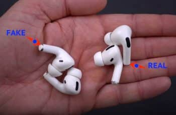 how to tell if airpods pro are fake